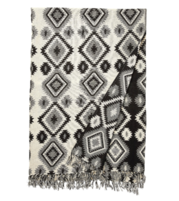 Featured Product Geo Design Woven Reversible Cotton Blanket
