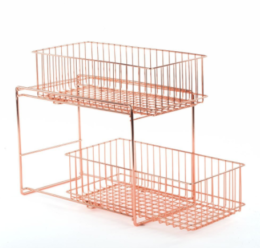 Featured Product Copper Lincoln Cabinet Basket