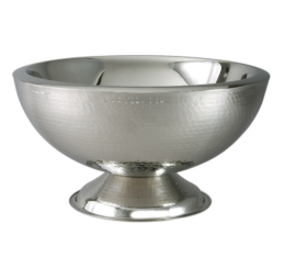 Featured Product Hammered 3-Gallon Stainless Steel Doublewall Punch Bowl