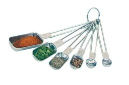 Featured Product 6-Piece Stainless Steel Rectangular Measuring Spoon Set