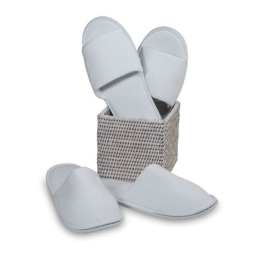 Featured Product Open Toe Velour Slippers