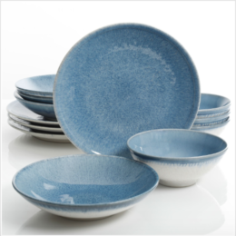 Featured Product Elite Ombre Blue Dinnerware Set