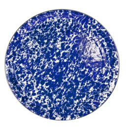 Featured Product Enamelware Cobalt Swirl Dinner Plate