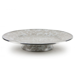 Featured Product Taupe Swirl Cake Plate
