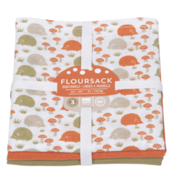 Featured Product Happy Hedgehog Floursack Dishtowels