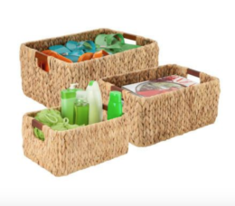 Featured Product 3-Piece Rectangular Nesting Storage Baskets