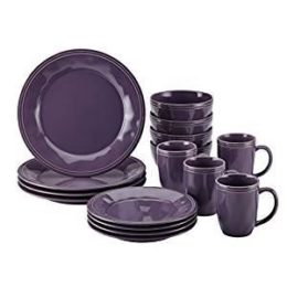Featured Product Cucina Dinnerware 16-Piece Stoneware Dinnerware Set, Lavender