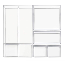 Featured Product Clarity Cosmetic Drawer Organizer 5-Pc Set