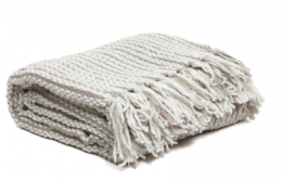 Featured Product Cream Chain Link Chenille Throw