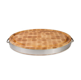 Featured Product Maple Wood End Grain Reversible Oval Cutting Board