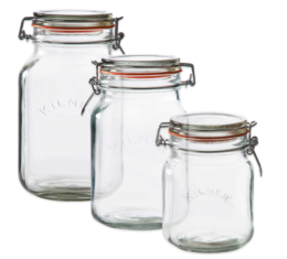 Featured Product Square Clip Top Canning Jar