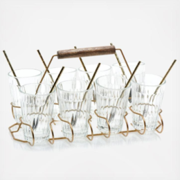 Featured Product 17-Piece Glass and Caddy Entertaining Set