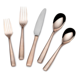 Featured Product Delano Rose Gold 5 Piece Flatware Set