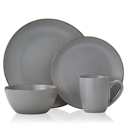 Featured Product Gourmet Basics Juliana Gray 16-Piece Dinnerware Set