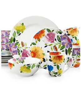 Featured Product Gourmet Basics Provence Garden 16-Piece Dinnerware Set