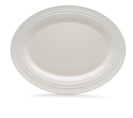 Featured Product Swirl Bone White Oval Platter