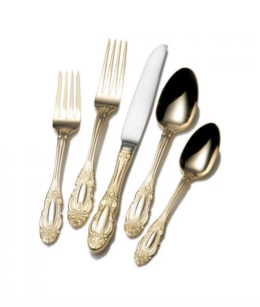 Featured Product Wallace Duchess Gold Plated 65 Piece Flatware Set