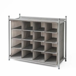 Featured Product Harmony Twill Stackable 16 Cubby Shoe Rack