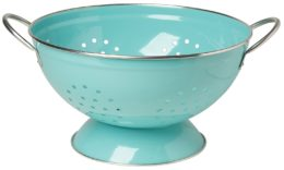 Featured Product Turquoise Metal Colander
