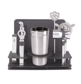 Featured Product Stainless Steel 10-Piece Cocktail Shaker & Bar Tool Set