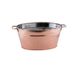 Featured Product Hammered Decor Copper Beverage Tub