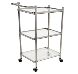 Featured Product 3 Tier Chrome Serving Cart