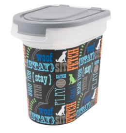 Featured Product Word Play Design Pet Food Storage Bin