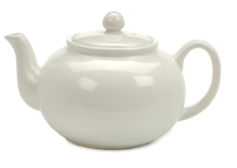 Featured Product White 6-Cup Stoneware Chai Teapot