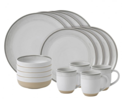 Featured Product ED Brushed Glaze Soft White 16-Piece Set