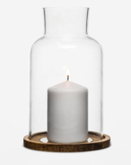 Featured Product Oval Oak Candle Holder