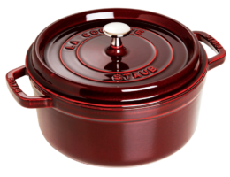 Featured Product Cast Iron 7-qt Round Cocotte in Grenadine