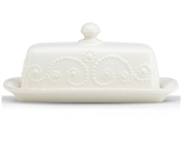 Featured Product French Perle White Butter Dish