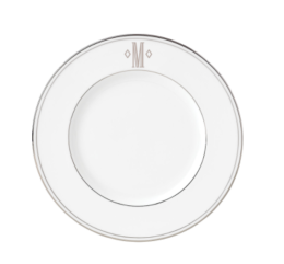 "Featured Product Federal Platinum Monogrammed Block 9"" Accent Plate"