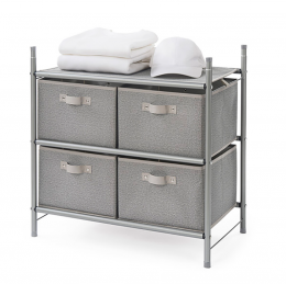 Featured Product Stackable 4-Bin Drawer Organizer