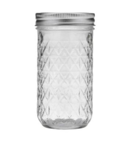 Featured Product Kerr Quilted Crystal Regular Mouth 12-oz. Mason Jars