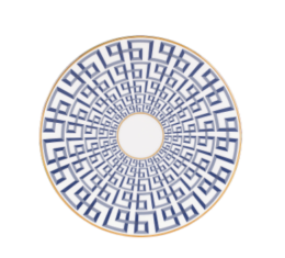 "Featured Product Brian Gluckstein Darius Gold 9"" Accent Plate"