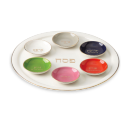 Featured Product Oak Street 7-piece Seder Plate & Bowl Set