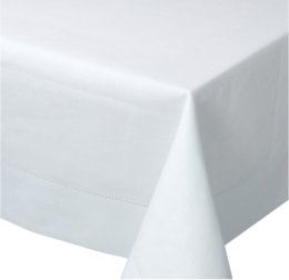 Featured Product White Hemstich Cotton Tablecloth