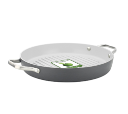 "Featured Product Padova 11"" Ceramic Non-Stick Round Grill Pan"