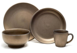 Featured Product Teton 16-Piece Dinnerware Set, Rubbed Gold