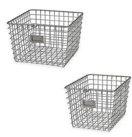 Featured Product Metal Wire Storage Basket in Satin Nickel