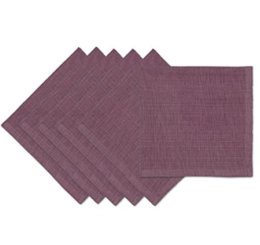 Featured Product Square Tonal Napkins in Plum