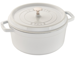 Featured Product Cast Iron 7-qt Round Cocotte in White