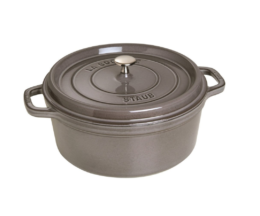 Featured Product Cast Iron 5.5-qt Round Cocotte in Graphite Grey