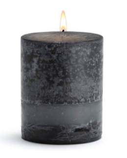 Featured Product Black Bamboo Pillar Candle