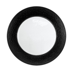 Featured Product Black Rim Glass Charger Plate