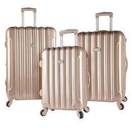 Featured Product Kensie Alma 3 Piece Metallic Luggage Set
