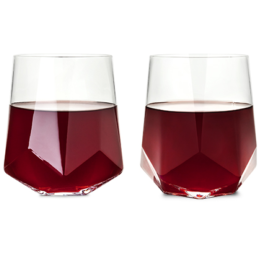 Featured Product Raye Faceted Crystal Wine Glass