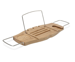 Featured Product Aquala Bamboo and Chrome Bathtub Caddy