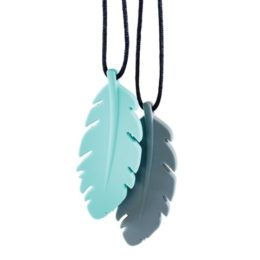 Featured Product Nixi Silicone Teething Pendant, Feather